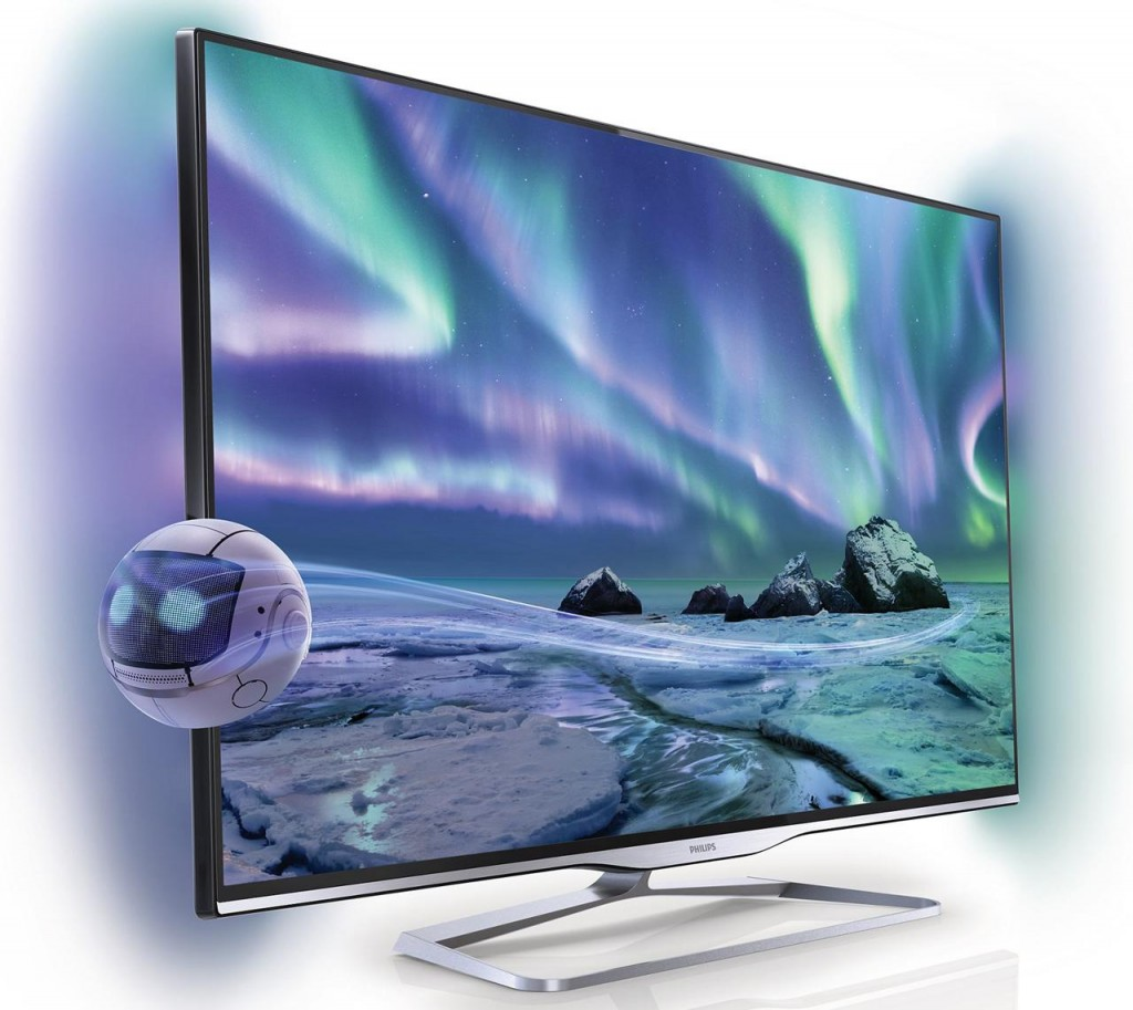 Televizor LED Smart TV 3D Philips 42PFL5008K semiprofil