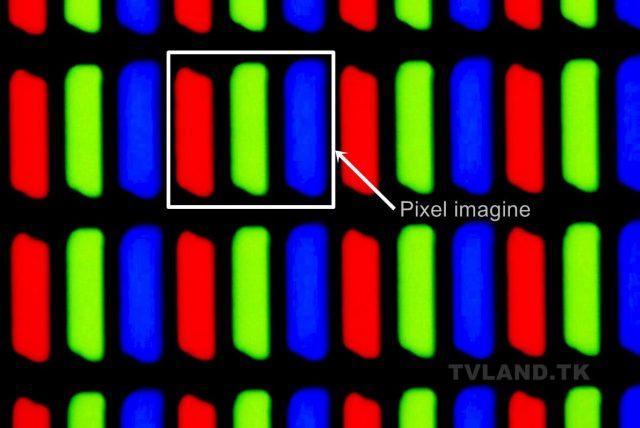 Pixeli RGB ecran LCD